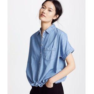 Madewell • Denim Tie-Front Denim Shirt